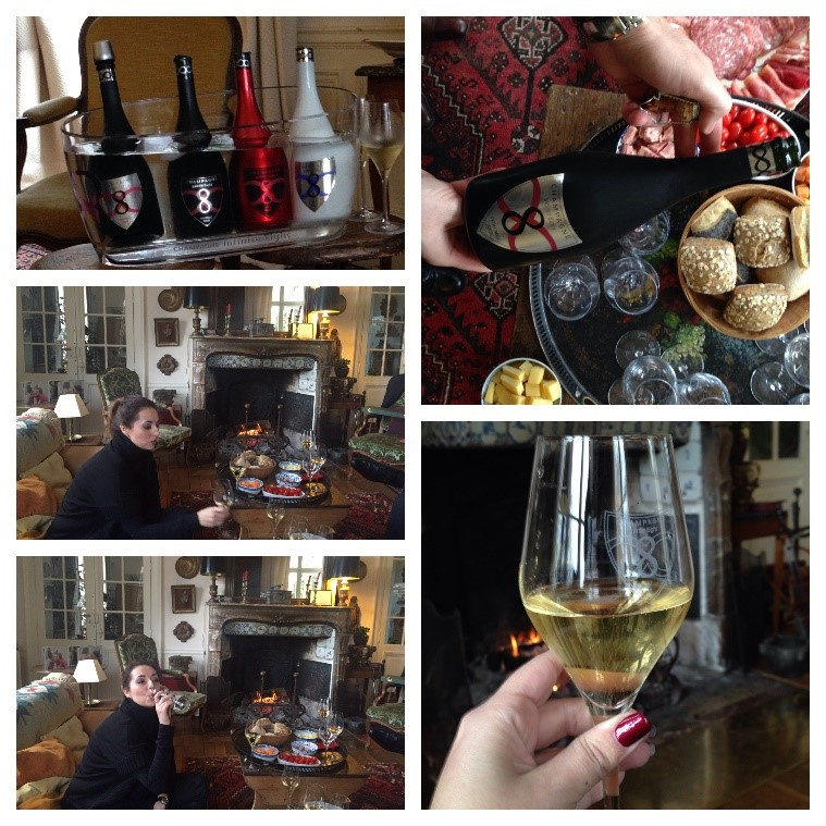 Catando Champagne Infinite Eight - 8 - en el Domaine